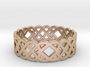 Size 8 Knot C4 in 14k Rose Gold Plated Brass