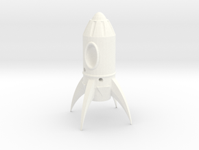 Fallout Rocket Keyring (In-Game) in White Strong & Flexible Polished