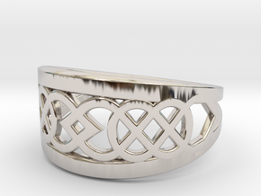 Size 10 Knot C7 in Rhodium Plated Brass