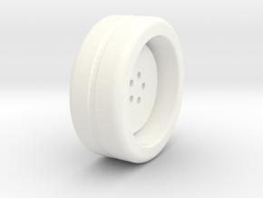 Wheel Base in White Processed Versatile Plastic