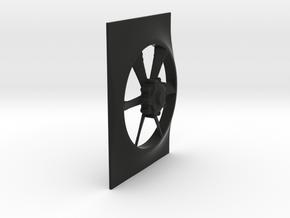Fan And Shroud for Servo cover Radiator in Black Natural Versatile Plastic