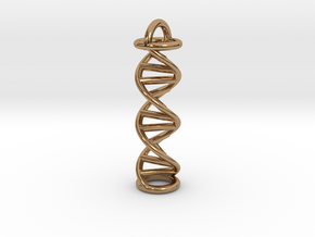 Pendant DNA in Polished Brass