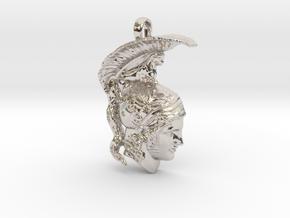 Ares, god of war, pendant in Platinum