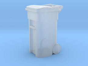 Trash Cart 64 gal - HO 87:1 Scale in Smooth Fine Detail Plastic