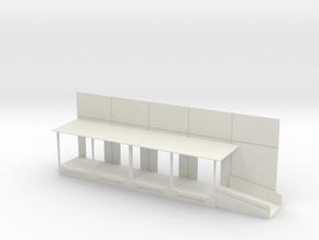 Forklift Ramp Dock Right End in White Natural Versatile Plastic