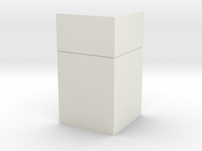 Corner Wall; Outside in White Natural Versatile Plastic