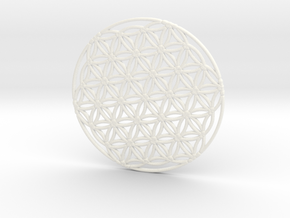 Flower of Life in White Processed Versatile Plastic