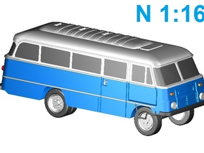 Robur Bus (N,1:160) in Smooth Fine Detail Plastic