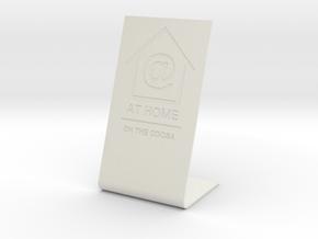 At Home display — custom job in White Natural Versatile Plastic