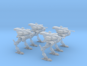 Light Assault Walker 6mm Deployed Platoon in Smooth Fine Detail Plastic