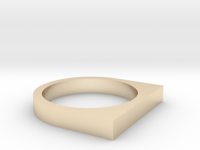 Minimal Square Top Ring, Size 7 in 14k Gold Plated Brass
