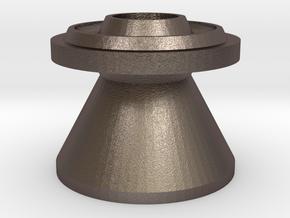 B Size Flask Funnel in Polished Bronzed Silver Steel