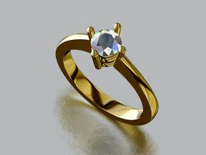0.33ct engagement ring in Smooth Fine Detail Plastic