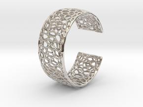 Frohr Design Radiolaria Bracelet Dec/02 in Rhodium Plated Brass