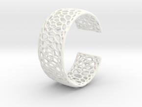 Frohr Design Radiolaria Bracelet Dec/02 in White Processed Versatile Plastic