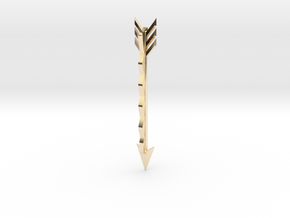 Arrow Bobby Pin in 14k Gold Plated Brass