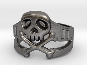 Space Captain Harlock | Ring Size 8 in Polished Nickel Steel: 8 / 56.75