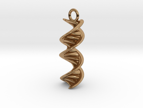 DNA Helix Earring in Polished Brass