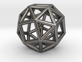 0273 Snub Cube E (a=1cm) #001 in Polished Nickel Steel