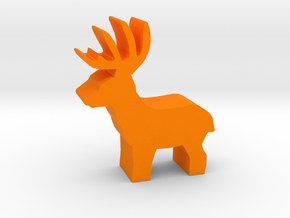 Game Piece, Deer Buck, standing in Orange Strong & Flexible Polished