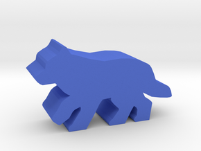 Game Piece, Wolf, running in Blue Processed Versatile Plastic