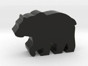 Game Piece, Bear in Black Natural Versatile Plastic