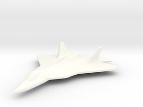 PAK-FA 1/350 in White Strong & Flexible Polished