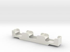 Stapleford Miniature Railway Brake Coach in White Natural Versatile Plastic