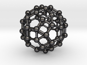 0392 Small Rhombicosidodecahedron V&E (a=1cm) #003 in Polished Grey Steel