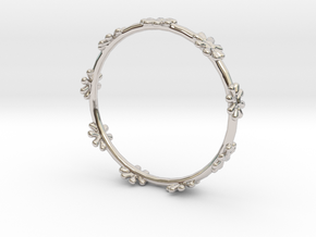 Bangle Design in Rhodium Plated Brass