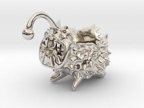 Anglerdog in Rhodium Plated Brass