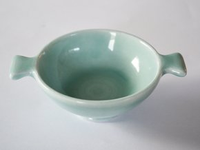Quaich in Gloss Celadon Green Porcelain