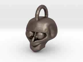 Mumbo Skull Pendant in Polished Bronzed Silver Steel