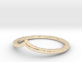 Arrow Stacking Ring in 14k Gold Plated Brass