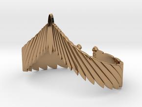 Falcon Wing Bracelet in Polished Brass