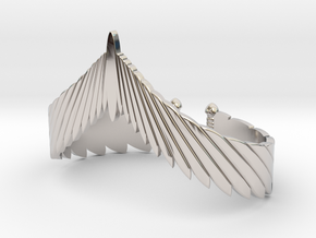 Falcon Wing Bracelet in Rhodium Plated Brass