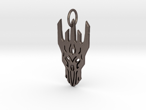 Sauron Helm Pendant in Polished Bronzed Silver Steel