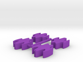 Game Piece, Clone Masters Cruiser 25mm, 4-set in Purple Strong & Flexible Polished
