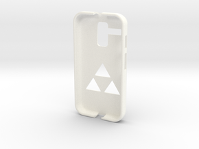 Moto G Zelda Phone Case in White Strong & Flexible Polished