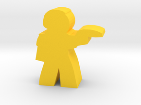 Game Piece, Core Union Officer, pistol in Yellow Processed Versatile Plastic