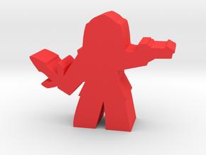 Game Piece, Warrior Empire Soldier, dagger in Red Processed Versatile Plastic