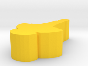 Game Piece, Core Union Cruiser, 25mm in Yellow Strong & Flexible Polished