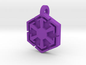 3d Star Wars Sith Pendant in Purple Processed Versatile Plastic