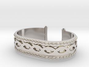 Scroll Bracelet in Platinum