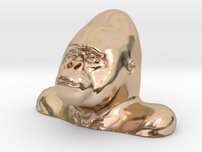Gorilla Bust Sculpt in 14k Rose Gold