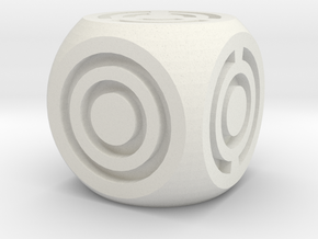 Arc Axis D6 Round Die in White Natural Versatile Plastic