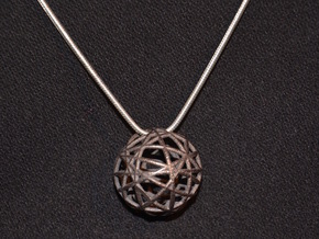 Random Wire Sphere in Polished and Bronzed Black Steel