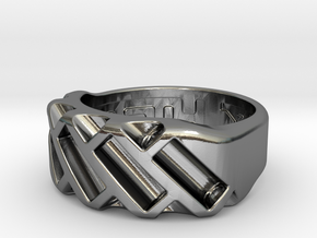 US6 Ring XVII: Tritium in Polished Silver