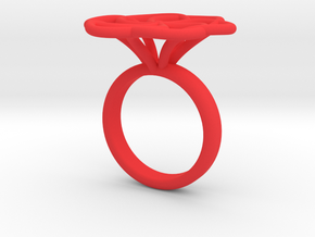 Anello Intreccio V2 in Red Processed Versatile Plastic