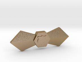 Ka Shapeways in Polished Gold Steel